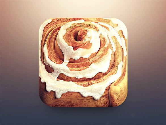 glazed cinnamon roll app icon