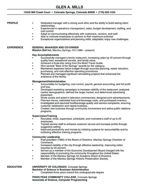 Manager Resume Sample Click Here To Download This Restaurant