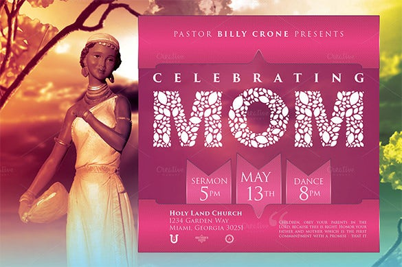 glorious mothers day flyer template