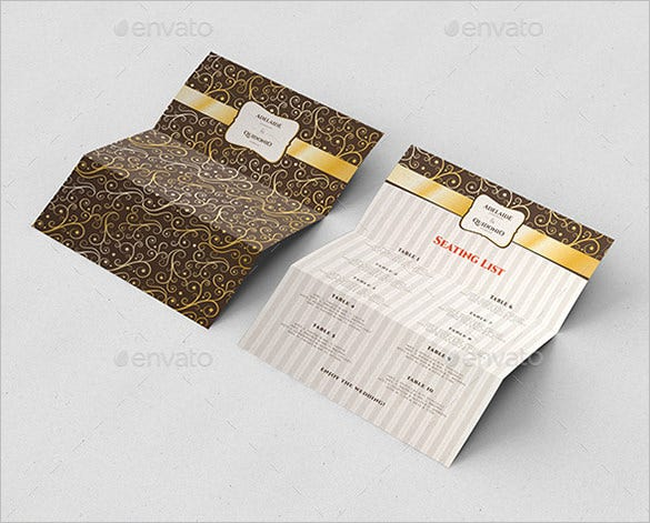 Wedding Ceremony Program Template - 36+ Word, PDF, PSD InDesign ...