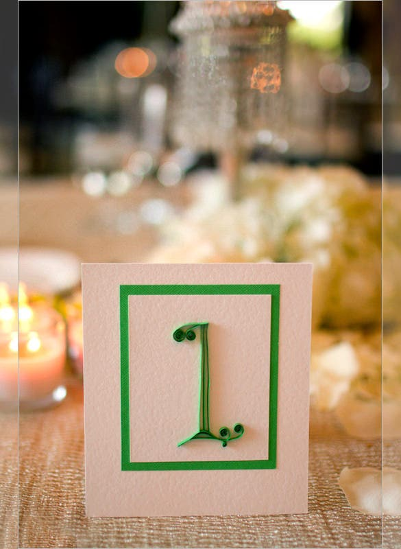 golf theme wedding quilled place card template