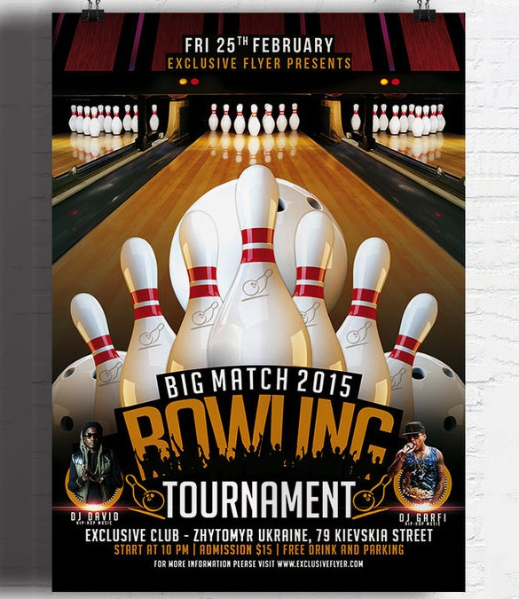 24 Outstanding Bowling Invitation Templates Designs Psd Ai