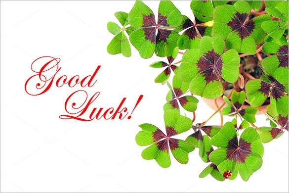 Good Luck Card  Good Luck Card Template