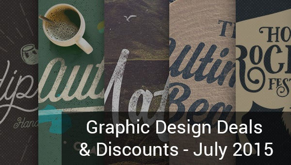 graphic design deal discounts july 2015
