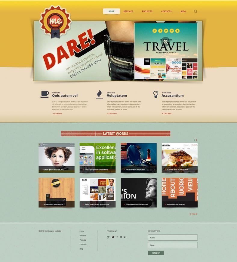 Graphic Designer Portfolio Joomla Theme