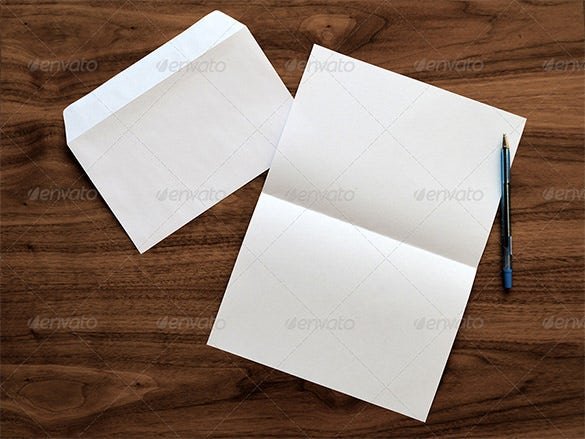 Graphic Letter Envelope Mock Up Psd Template