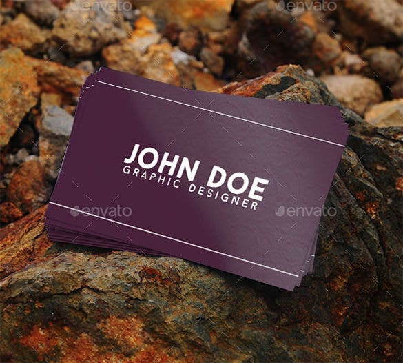 graphic name card psd template 4