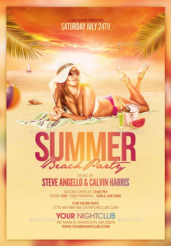 Great Beach Party Flyer Template