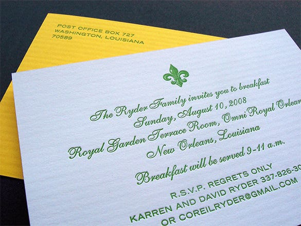 great breakfast invitation template