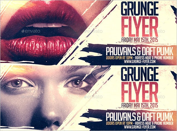 grunge facebook cover timeline template psd download 2