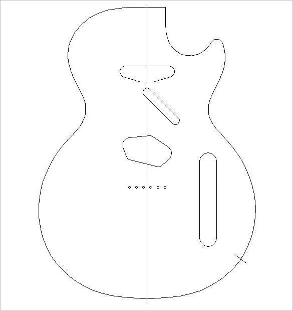 14 awsome guitar cake templates designs free premium templates