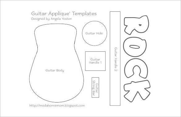 Guitar shape templates pictures to pin on pinterest for Electric guitar body templates