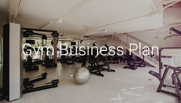 Gym Business Plan Template 16 Free Word Excel Pdf