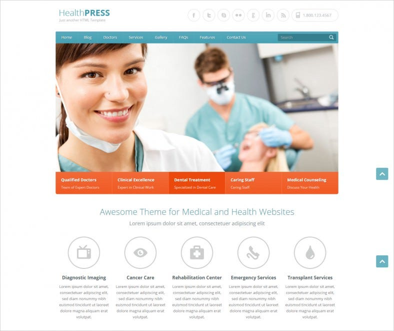 18+ medical html5 themes & templates | free & premium templates, Skeleton