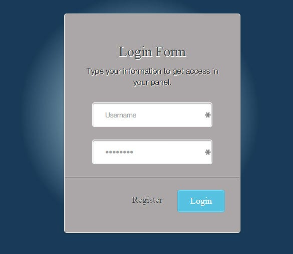 html5 boilerplate login form for company