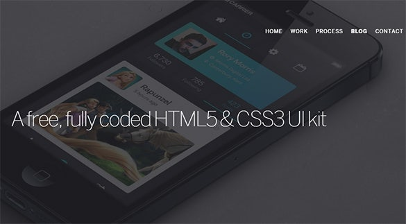 html5 css3 fully coded ui kit