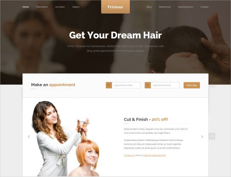 10 top html5 templates for hair salons free premium templates