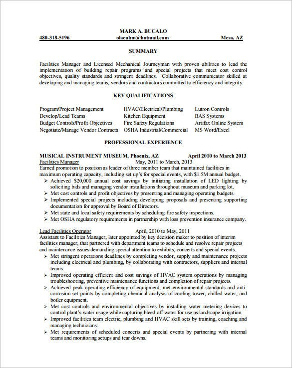 hvac resume skills and abilities pdf template