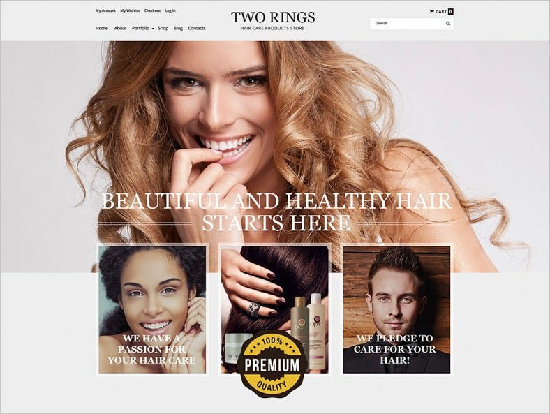 Hair Shop Responsive WooCommerce Theme