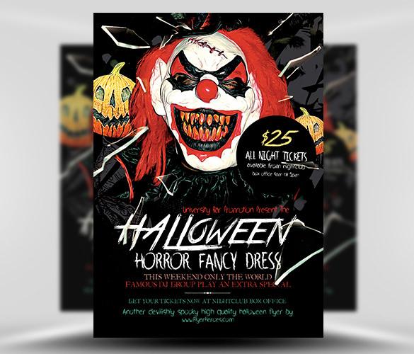 halloween horror advertising flyer template