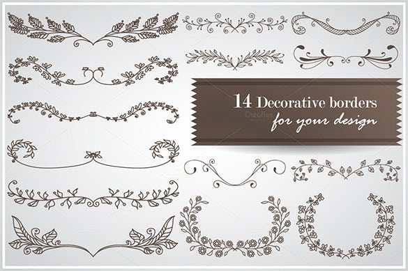 hand drawn floral page border template 2
