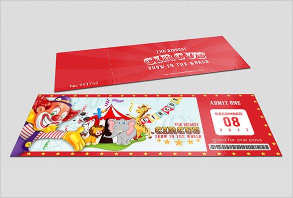 handmade circus ticket template