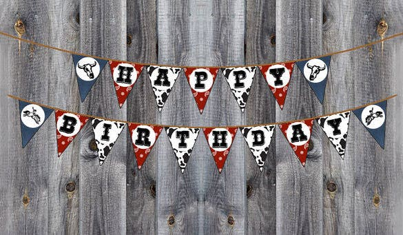 happy birthday pennant banner premium download 1