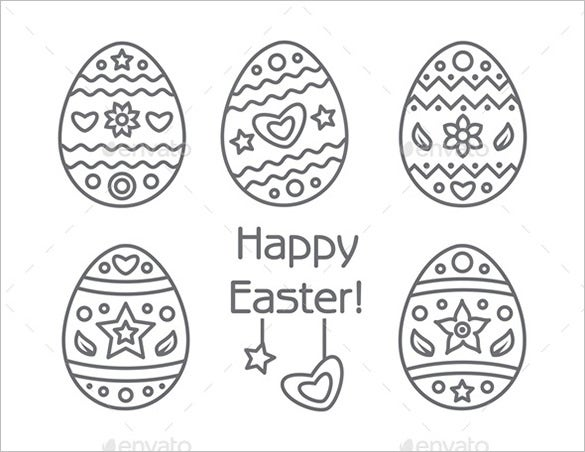 happy easter egg template