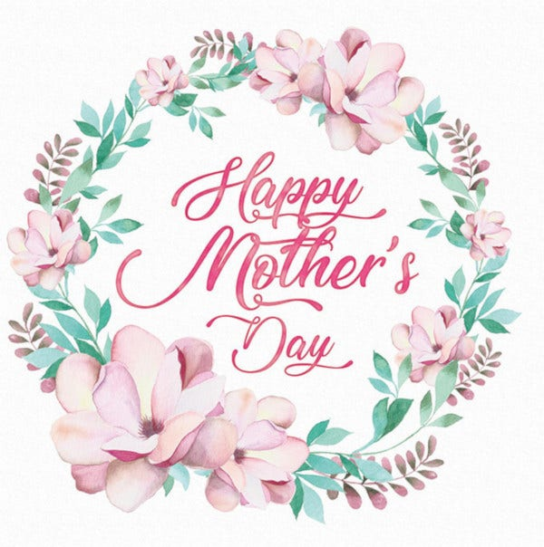 happy mothers day watercolor template