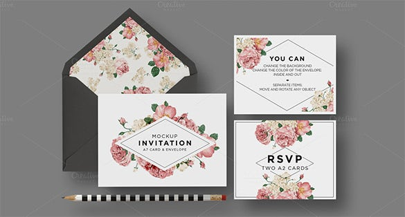 Beautiful A Envelope Templates   Free Printable Word Pdf Psd