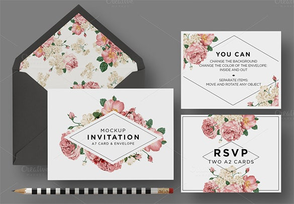 happychic wedding card envelope psd for 9