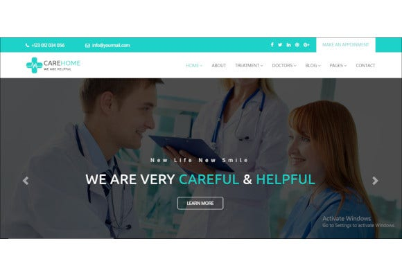 health and medical html5 template