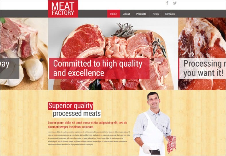 healthy meat factory joomla template 788x543