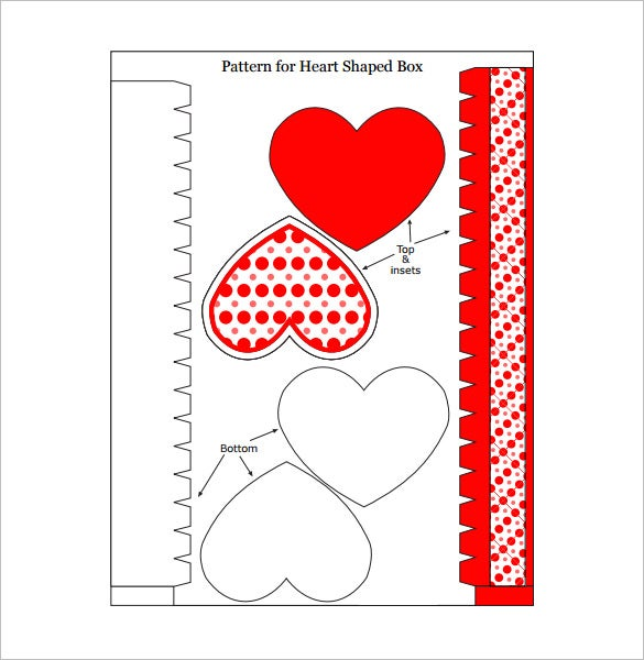 heart shaped gift box example