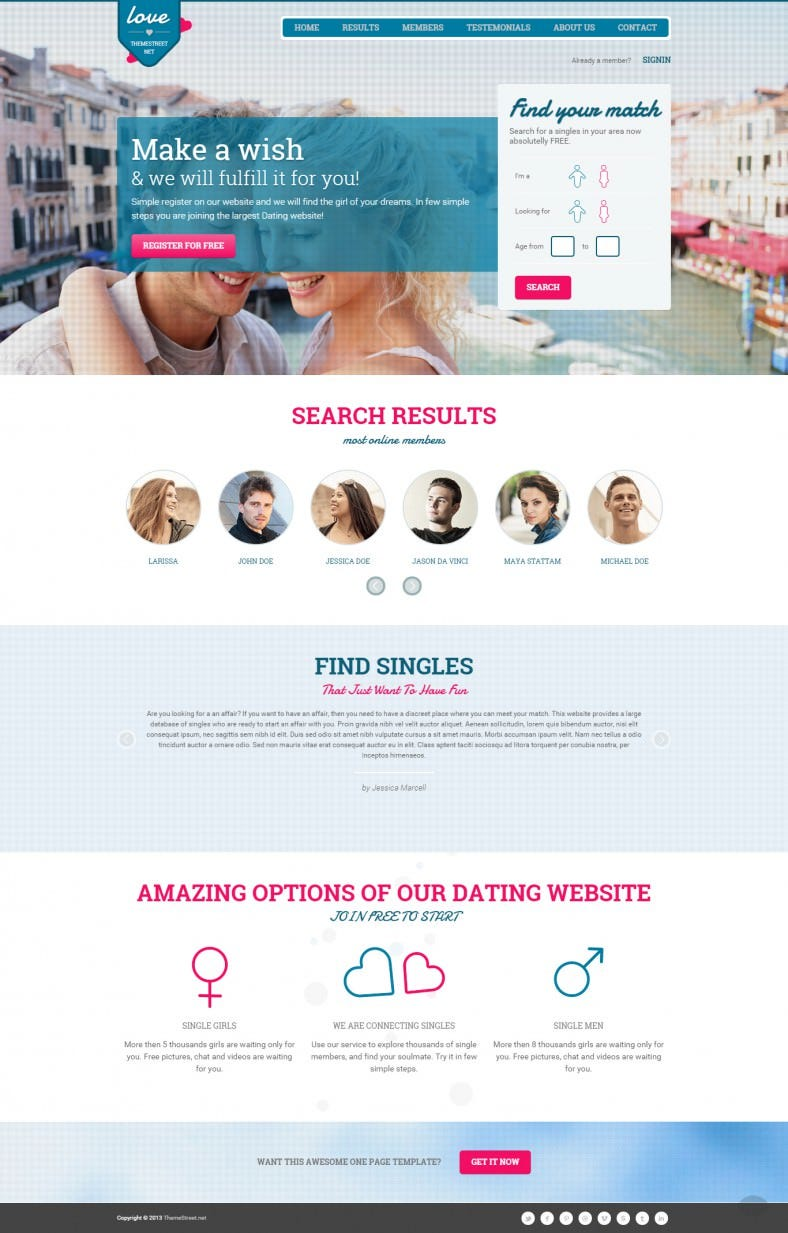 high conversion dating landing page templates 788x1233
