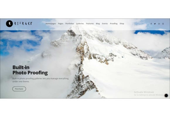 high performance photography theme