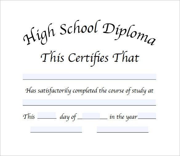 diploma certificate template  u2013 25  free word  pdf  psd