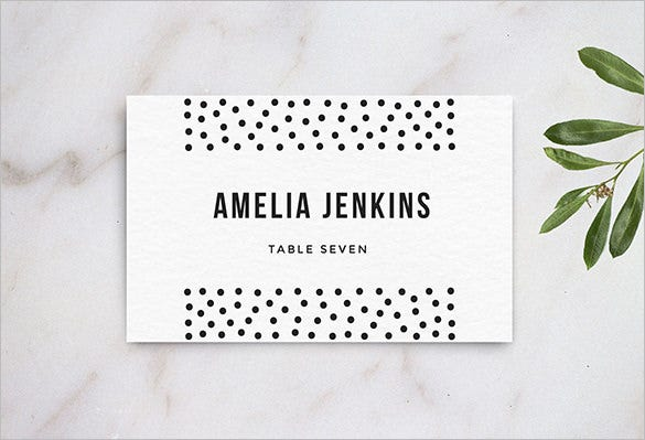 hitech wedding table name card template for 8