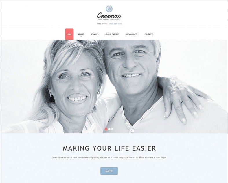 home health care services joomla template 788x633