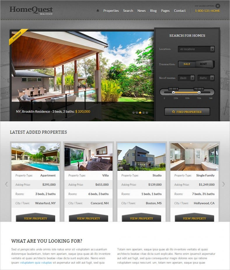 homequest real estate html theme 788x926