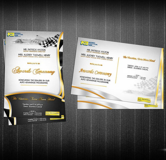 12 Glorious Award Ceremony Invitation Templates Psd Ai