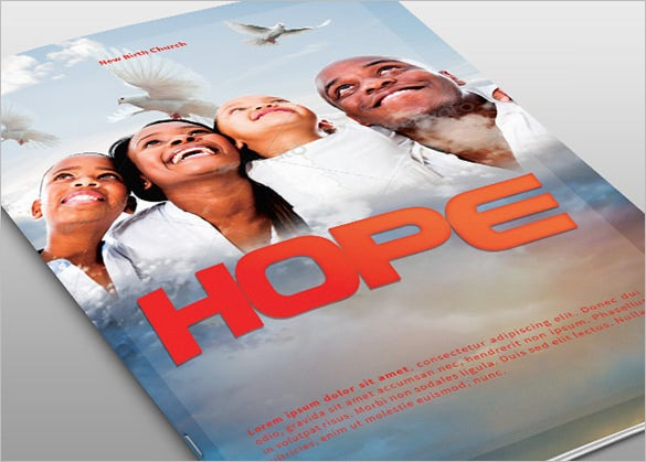 hope church bulletin template for 8