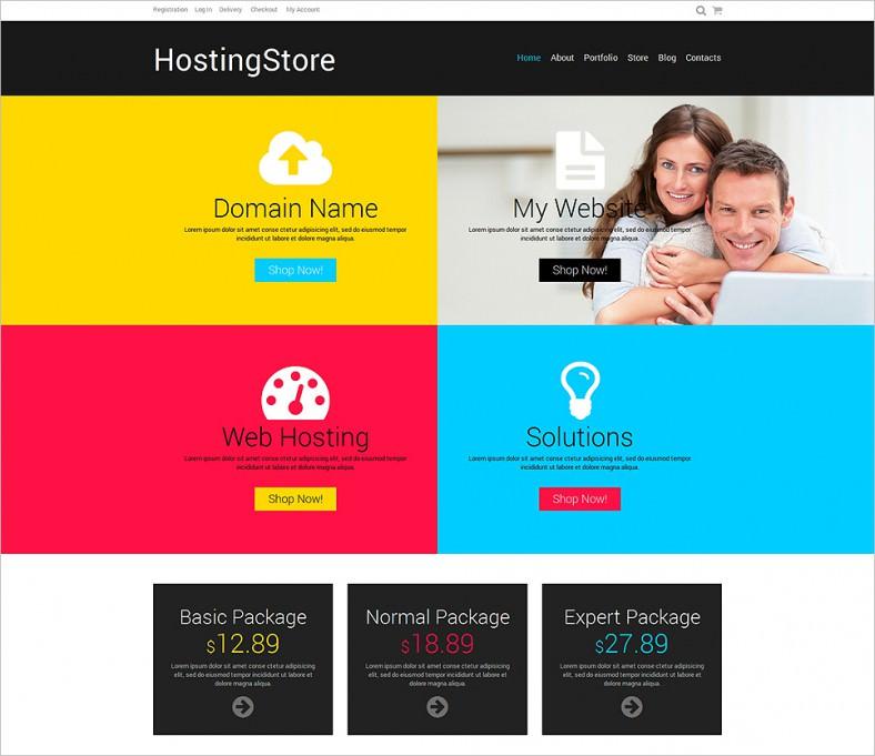 hosting responsive woocommerce theme 788x681