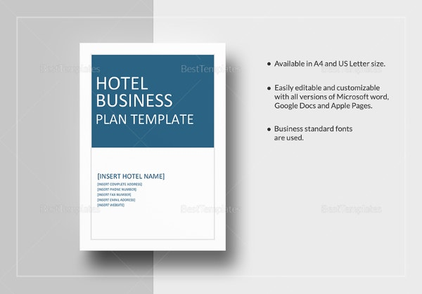 Hotel business plan template 10 free word excel pdf format hotel business plan template flashek Image collections