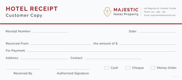 free hotel receipt template - Free Receipt Template
