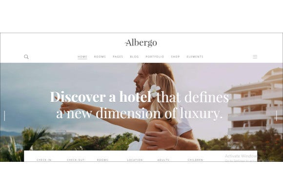 hotel and accommodation booking theme