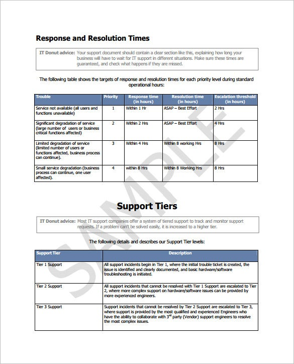 7 IT Support Contract Templates Free Word PDF Documents – Free Service Agreement Template