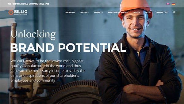 industrial wordpres themes