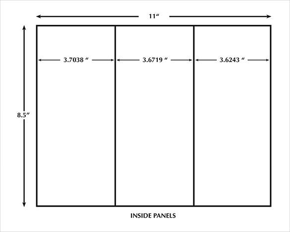 10 printable trifold templates doc psd pdf eps for Tri fold tent card template
