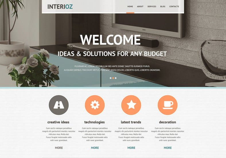 interior design agency joomla template 788x551